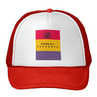 Flag Republic of Spain - Bandera República España Trucker Hat