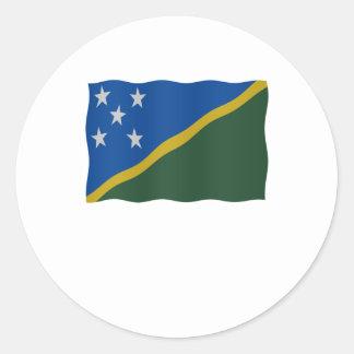 Flag Solomon Islands Classic Round Sticker