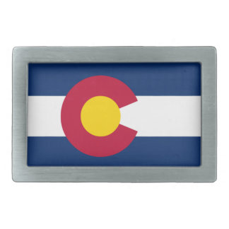 Flag State Colorado Belt Buckle