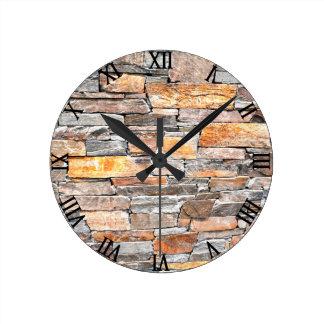 Flag stone wall clock