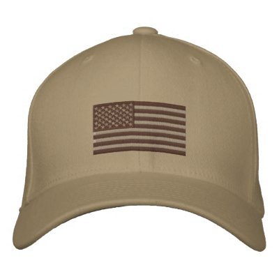 Flag - Subdued Desert Embroidered Baseball Caps