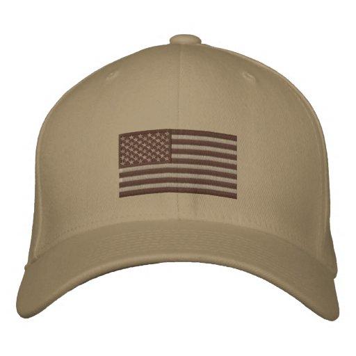 Flag - Subdued Desert Embroidered Baseball Caps