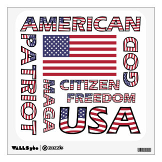 Flag Text American Patriot Wall Sticker
