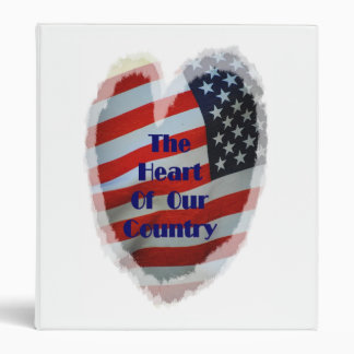 Flag The Heart Of Our Country Avery Binder