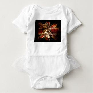 Flag United Kingdom England London Grunge Baby Bodysuit