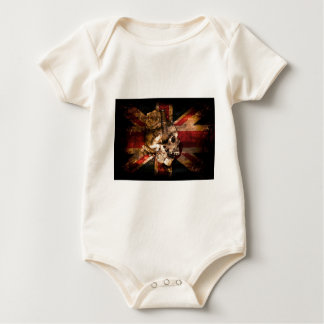 Flag United Kingdom England London Grunge Baby Bodysuit