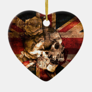 Flag United Kingdom England London Grunge Ceramic Ornament