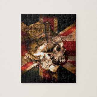 Flag United Kingdom England London Grunge Jigsaw Puzzle