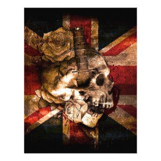 Flag United Kingdom England London Grunge Letterhead