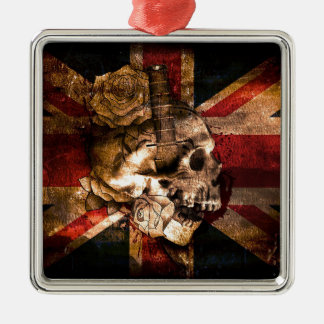 Flag United Kingdom England London Grunge Metal Ornament