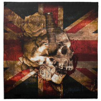 Flag United Kingdom England London Grunge Napkin
