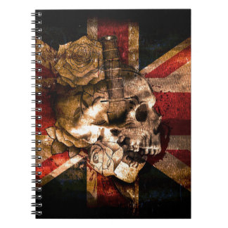 Flag United Kingdom England London Grunge Notebooks