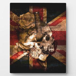 Flag United Kingdom England London Grunge Plaque