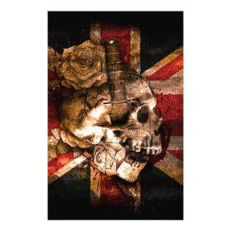 Flag United Kingdom England London Grunge Stationery