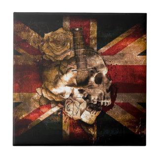 Flag United Kingdom England London Grunge Tile