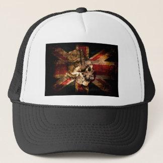 Flag United Kingdom England London Grunge Trucker Hat