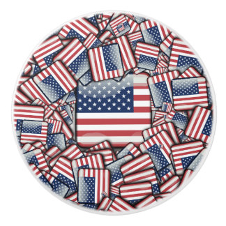 Flag_United_States_by_JAMColors Ceramic Knob