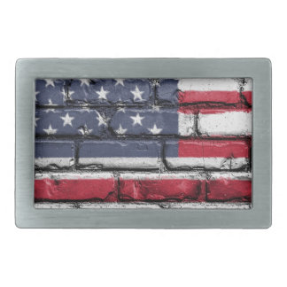 Flag Usa America Wall Painted American Usa Flag Belt Buckles