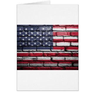 Flag Usa America Wall Painted American Usa Flag Card