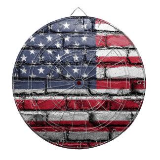 Flag Usa America Wall Painted American Usa Flag Dartboard