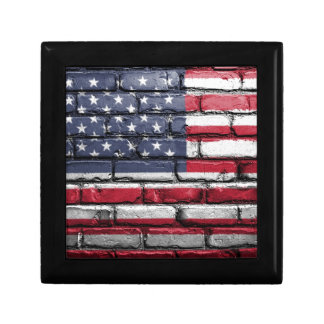 Flag Usa America Wall Painted American Usa Flag Gift Box