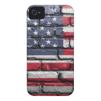 Flag Usa America Wall Painted American Usa Flag iPhone 4 Case