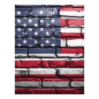 Flag Usa America Wall Painted American Usa Flag Letterhead