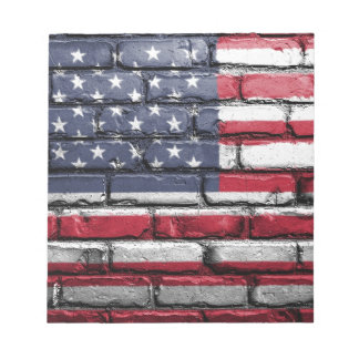 Flag Usa America Wall Painted American Usa Flag Notepad