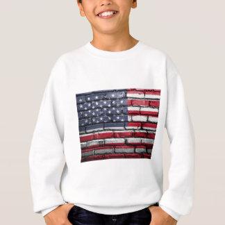 Flag Usa America Wall Painted American Usa Flag Sweatshirt