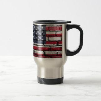 Flag Usa America Wall Painted American Usa Flag Travel Mug
