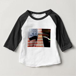 Flag Usa Banner Guitar Electric Guitar Baby T-Shirt