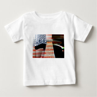 Flag Usa Banner Guitar Electric Guitar Baby T-Shirt