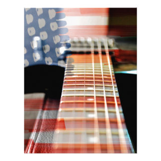 Flag Usa Banner Guitar Electric Guitar Letterhead