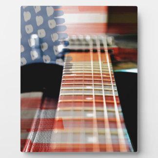 Flag Usa Banner Guitar Electric Guitar Plaque