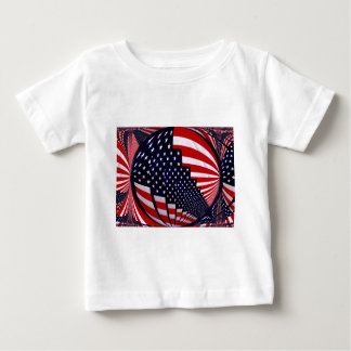 Flag-USA -Spread the Love_ Baby T-Shirt