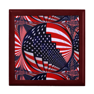 Flag-USA -Spread the Love_ Jewelry Boxes