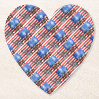 Flag USA veteran Personalize Destiny Destiny'S Paper Coaster
