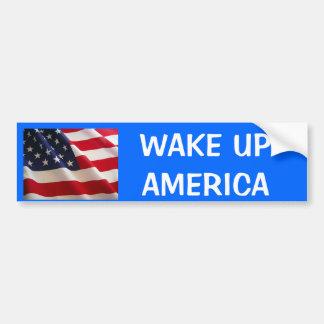 flag, WAKE UPAMERICA Bumper Sticker