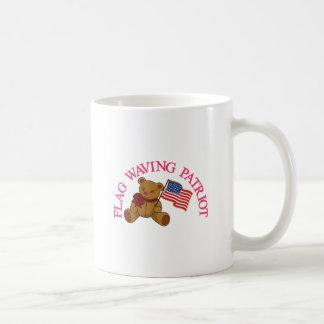 Flag Waving Patriot Classic White Coffee Mug