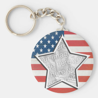 Flag with Star Keychains