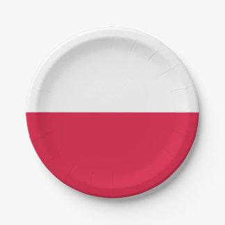 Flaga Polski - Polish Flag 7 Inch Paper Plate