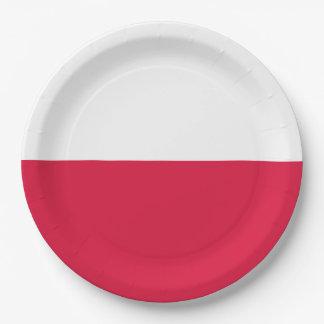 Flaga Polski - Polish Flag 9 Inch Paper Plate