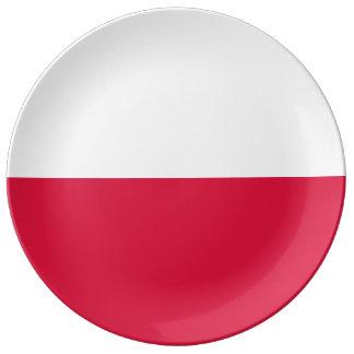 Flaga Polski - Polish Flag Porcelain Plate