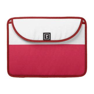 Flaga Polski - Polish Flag Sleeve For MacBook Pro