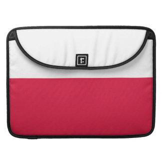 Flaga Polski - Polish Flag Sleeve For MacBooks