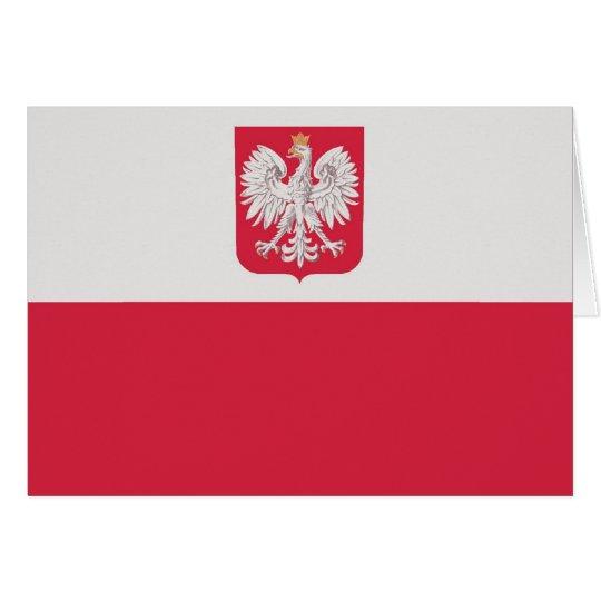 Flaga Polski z godłem - Flag of Poland Card