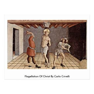 Flagellation Of Christ By Carlo Crivelli Postcard