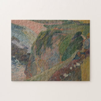 Flageolet Player on the Cliff Paul Gauguin Jigsaw Puzzle
