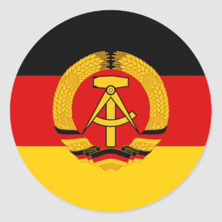 Flagge der DDR - Flag of the GDR (East Germany) Classic Round Sticker