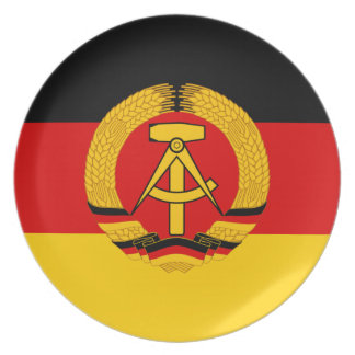 Flagge der DDR - Flag of the GDR (East Germany) Plate